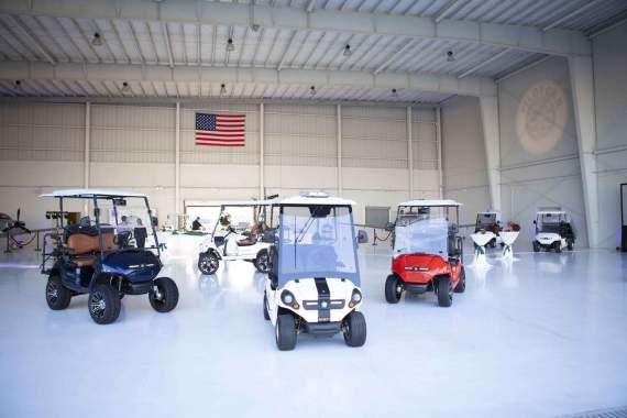 Pilotcar vehicles at the Naples Jet Center